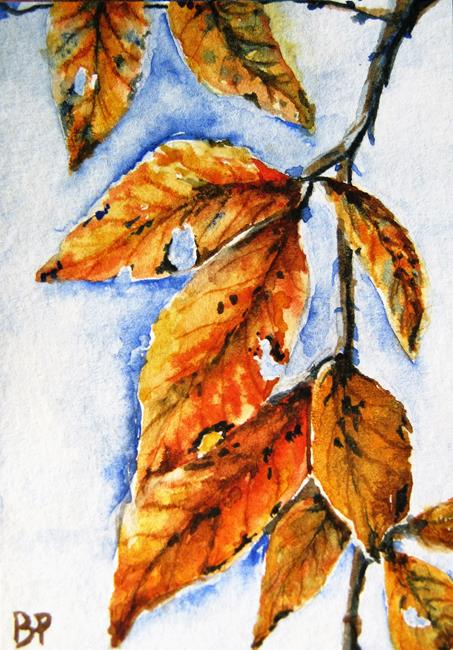 Art: Elm Tree Leaves-sold by Artist Bonnie Pankhurst