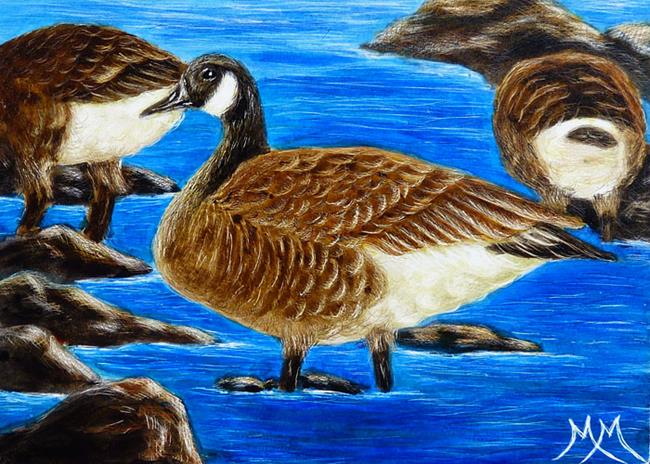 Art: Canada Geese  (SOLD) by Artist Monique Morin Matson