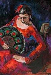 Art: In Flaminco dance by Artist Luda Angel