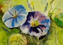 Art: Morning Glories by Artist Delilah Smith