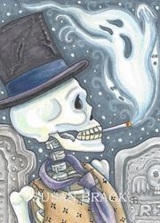 Art: SMOKE IN THE GRAVEYARD by Artist Susan Brack