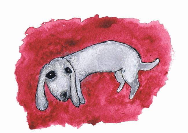 Art: DOGGY d209 dog by Artist Dawn Barker