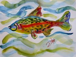Art: Fish in the Water by Artist Delilah Smith