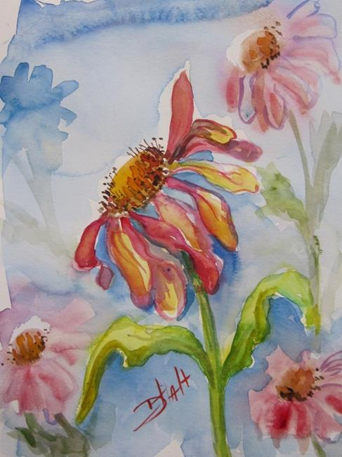 Art: Coneflowers by Artist Delilah Smith