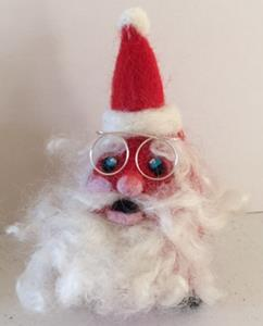 Detail Image for art Needle Felted Santa Ornament