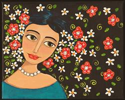 Art: Flowers In Her Hair by Artist Cindy Bontempo (GOSHRIN)