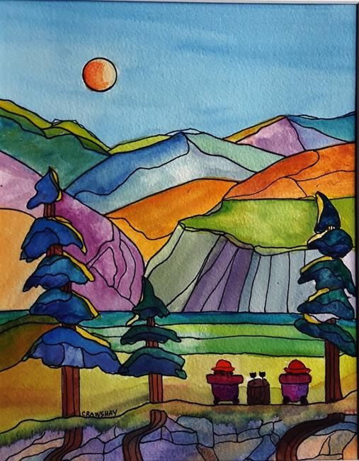 Art: Benchland Retreat (sold) by Artist Kathy Crawshay