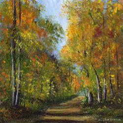 Art: Autumn Days by Artist Janet M Graham