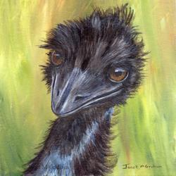 Art: Emu by Artist Janet M Graham