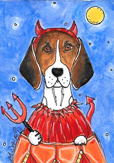 Art: Devily Beagle by Artist Melinda Dalke
