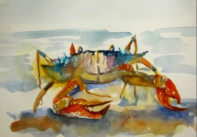 Art: Blue Beach Crab by Artist Delilah Smith