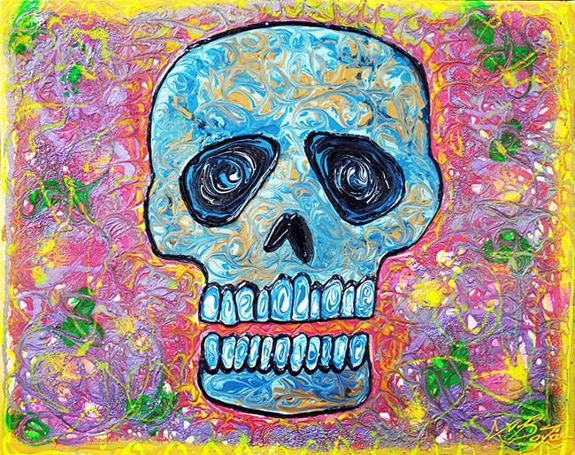 Art: Marble Skull by Artist Laura Barbosa