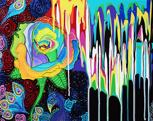 Art: Rainbow Rose by Artist Laura Barbosa