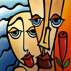 Art: Abstract Art Original Painting Quality Time by Artist Thomas C. Fedro