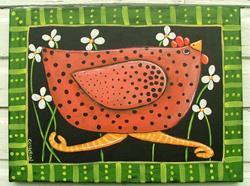 Art: Red Hen by Artist Cindy Bontempo (GOSHRIN)