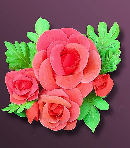 Art: Only Paper Roses by Artist Alma Lee