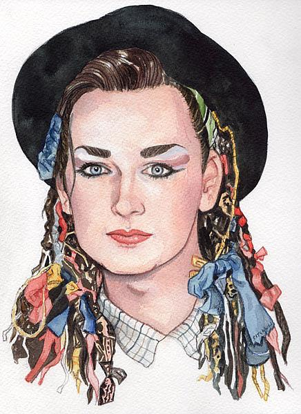 Art: Boy George by Artist Mark Satchwill