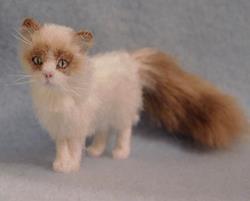 Art: Silk Furred Ragdoll Cat by Artist Camille Meeker Turner