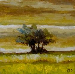 Art: Lonesome Tree II by Artist Christine E. S. Code ~CES~