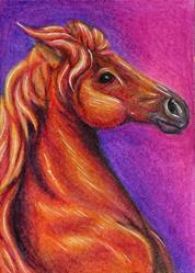Art: Horse Head - MM15  (SOLD) by Artist Monique Morin Matson