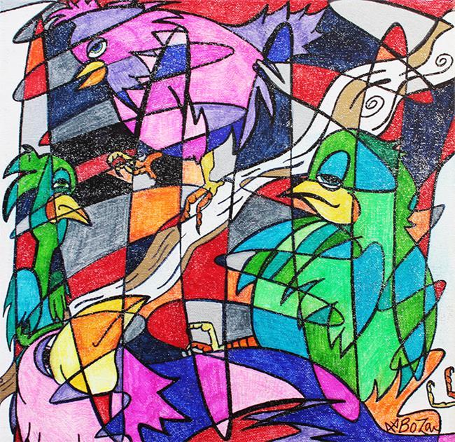 Art: Birdology by Artist Laura Barbosa