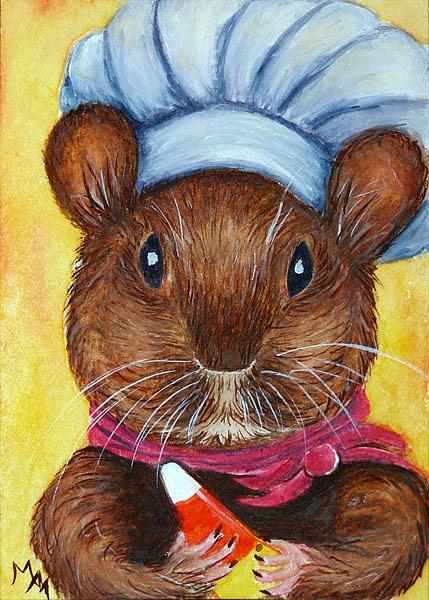 Art: Candy Corn Chef  (SOLD) by Artist Monique Morin Matson