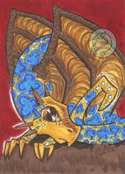 Art: Dragon Fight clubs by Artist Emily J White