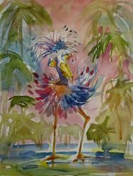 Art: Tropical Bird by Artist Delilah Smith