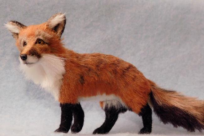 Art: Bamboo & Silk Furred Red Fox by Artist Camille Meeker Turner