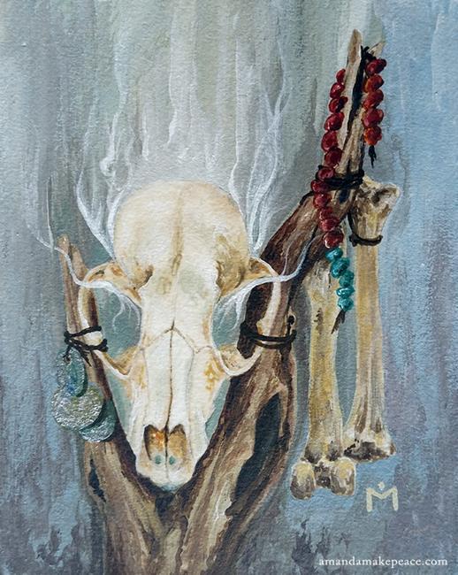 Art: Bone Magic by Artist Amanda Makepeace