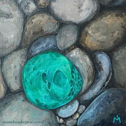 Art: Serpent Stone by Artist Amanda Makepeace