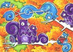 Art: Six Squirrels by Artist Emily J White