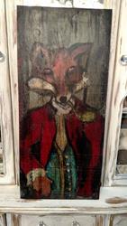 Art: Fox Gent by Artist Chris Jeanguenat