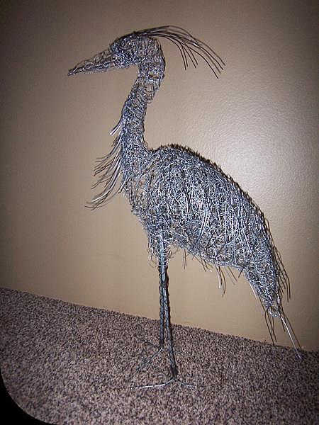 Art: Wire Heron by Leonard G. Collins by Artist Leonard G. Collins