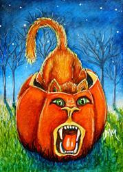 Art: Pumpkin Roar  (SOLD) by Artist Monique Morin Matson