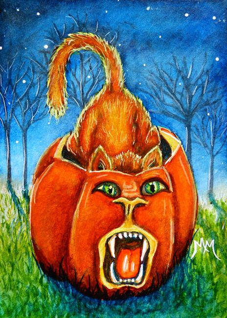 Art: Pumpkin Roar  (SOLD) by Artist Monique Morin Matson