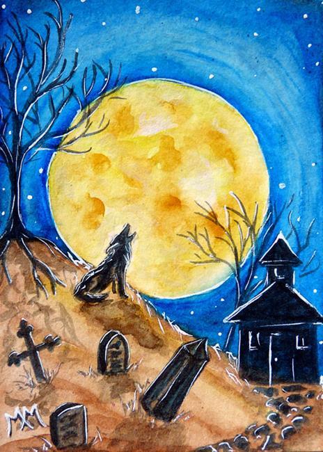 Art: Haunted Evening  (SOLD) by Artist Monique Morin Matson