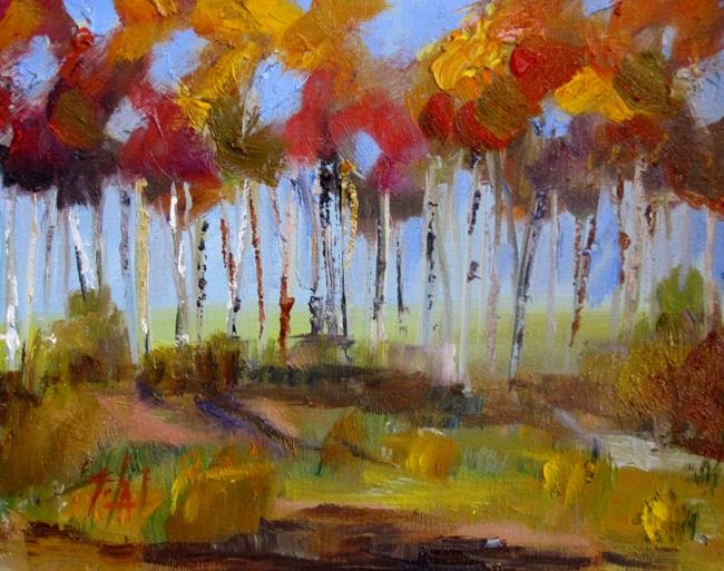 Art: Colorful Fall Landscape by Artist Delilah Smith