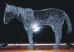 Art: Chicken Wire Horse by Leonard G. Collins by Artist Leonard G. Collins