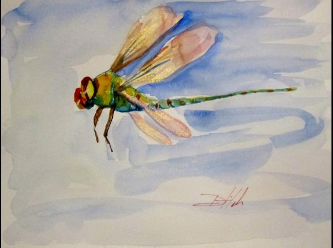 Art: Flying Dragomfly by Artist Delilah Smith