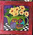 Art: Teapot Cats 12x12 by Artist Ke Robinson