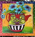 Art: Teapot CATS! by Artist Ke Robinson