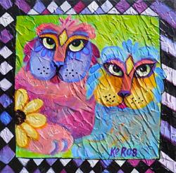 Art: #0439 Cat Love by Artist Ke Robinson