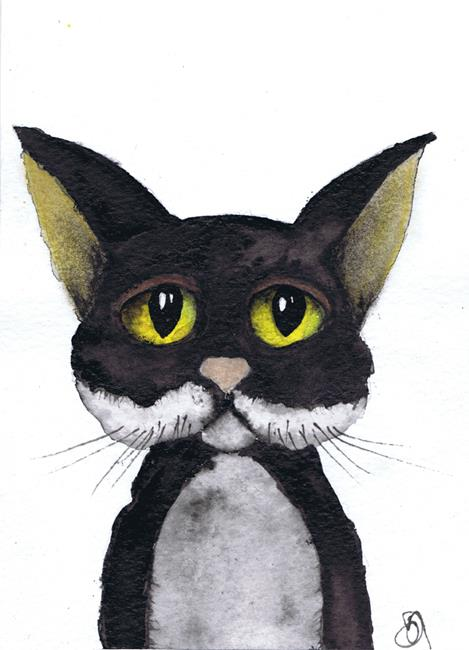 Art: THIS CAT LOVES YOU! c329 by Artist Dawn Barker