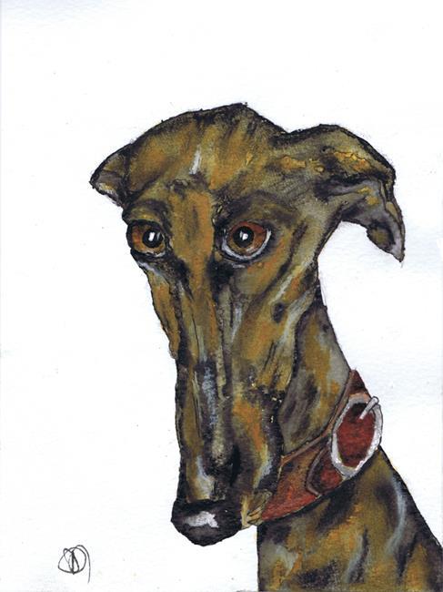 Art: GREYHOUND g915 by Artist Dawn Barker