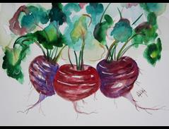 Art: Beets 2 by Artist Delilah Smith