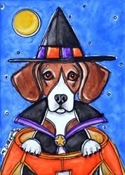 Art: Witchy the Beagle by Artist Melinda Dalke