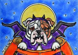 Art: BullBat by Artist Melinda Dalke