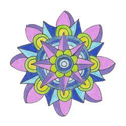 Art: Day 15 I'm A Cool Mandala by Artist Kat Sanders