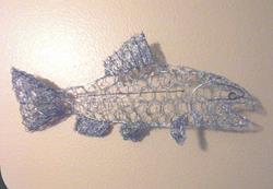 Art: Chicken Wire Steelhead by Leonad G. Collins by Artist Leonard G. Collins